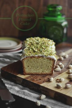 pistachio pound cake - a list of over 60 different pound cake recipes. Wow.