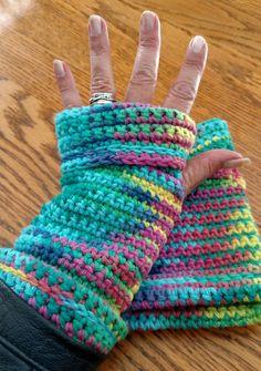 Alice Cotton Fingerless Gloves — Alily Crochet