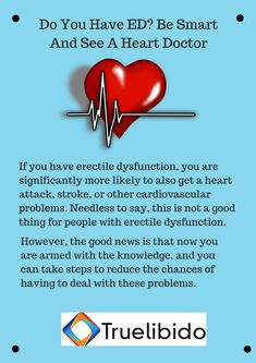 Do You Have #ED? Be Smart And See A #HeartDoctor