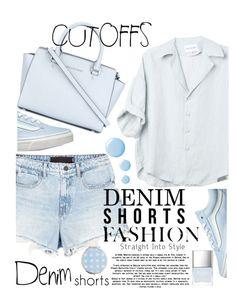 """denim shorts"" by ecem1 ❤ liked on Polyvore featuring Alexander Wang, Vans, MICHAEL Michael Kors, Topshop, Miss Selfridge, Butter London, jeanshorts, denimshorts and cutoffs"