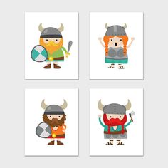 Viking Prints 8x10 Instant Download Viking by MossAndTwigPrints