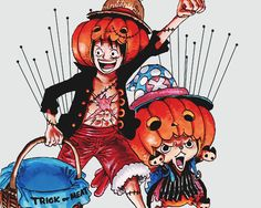 Imagen de fanart, haloween, and one piece