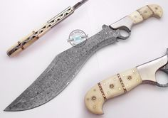 "15.50"" Custom Manufactured Beautiful Damascus Steel Bowie Knife (1011-1) #KnifeArtist"