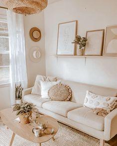 Boho Living Room, Home And Living, Living Room Decor, Beige Living Rooms, Cozy Living, Small Living, Modern Living, Living Spaces, Interior House Colors