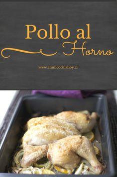 Una receta fácil y rápida de pollo al horno. Además le puedes dar tu propio toque con los aliños que desees.