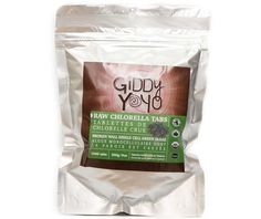 Giddy Yoyo CHLORELLA is a single-celled fresh water grown algae and may contain more chlorophyll per gram than any other plant in the world. It's a whole food and may be extremely rich in vitamins, minerals, amino acids, essential fatty acids, polysaccharides and a host of other beneficial compounds. #superfood #algae #healthy