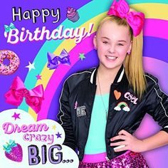 £2.99 GBP - Jojo Siwa Happy Birthday - Birthday Card #ebay #Home & Garden
