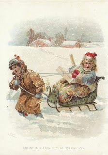 Коллекция картинок: Винтажные рождественские и новогодние открытки  2