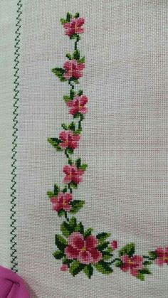 The most beautiful cross-stitch pattern - Knitting, Crochet Love Cross Stitch Letters, Cross Stitch Borders, Cross Stitch Samplers, Modern Cross Stitch, Cross Stitch Flowers, Cross Stitch Designs, Cross Stitching, Hand Embroidery Stitches, Cross Stitch Embroidery