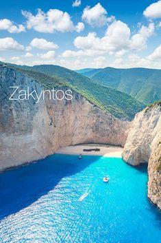 Obľúbený grécky ostrov láka dovolenkárov krásnymi plážami, tyrkysovým morom, najfotografovanejším miestom na svete, plážou Navagio s vrakom lode, ale aj výletmi na tie najkrajšie miesta na ostrove. Bratislava, Lode, In This Moment, Islands, Outdoor Decor, Greece