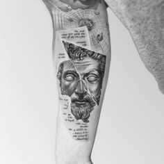 The Best Stoic Tattoos - What Is Stoicism? Thigh Tattoo Men, Cool Forearm Tattoos, Body Art Tattoos, Best Sleeve Tattoos, Sleeve Tattoos For Women, Tattoo Sleeve Designs, Tattoos For Guys Badass, Hand Tattoos For Guys, Meaningful Tattoos For Guys