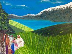 Jezus met Zijn discipelen, graanveld