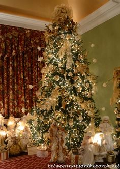 Christmas Tree with Angel Theme in Master Bedroom