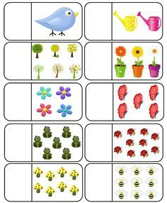 Spring Count and Clip Cards: Numbers Kindergarten Math Worksheets, Preschool Learning Activities, Preschool Printables, Toddler Learning, Preschool Activities, Arabic Alphabet For Kids, Montessori Math, Numbers Preschool, Math For Kids