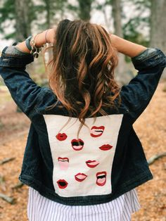 Hand-Painted Denim Jacket Custom