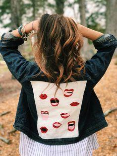 Hand-Painted Denim Jacket Custom by Circa69Denim on Etsy