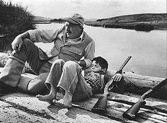 Ernest Hemingway et son fils Gregory, Sun Valley, Idaho, 1941
