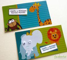 Tema de animalitos para tarjetas personales