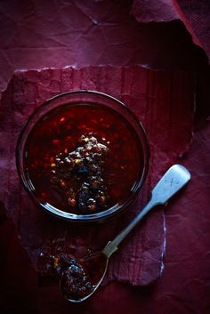 chilli jam courtesy of the brilliant food dept. Turn up the heat with some chilli and spice. Tom Yum Soup, Chilli Jam, Jam Recipes, Savoury Recipes, Canning Recipes, Cookbook Recipes, Chili Recipes, Asian Recipes, Sbs Food