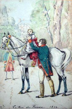Napoleone insegna a cavalcare al figlio - Jacques Onfroy de Bréville