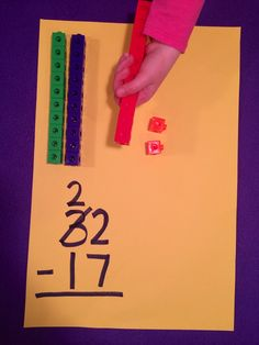 Subtraction with Regrouping using Unifix Cubes