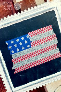 Washi Tape Flag! So easy!
