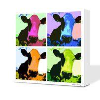 Pop Art - Oh la Vache ! reproduction sur toile ou sur Alu www.diabolodeco.com