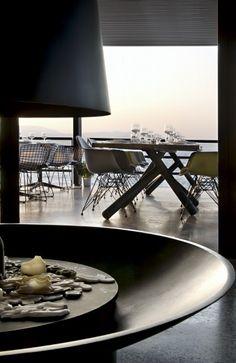 katavothres Stage Design, Minimalism, Greece, Restaurants, Dining Table, Bar, Contemporary, Space, Interior