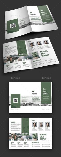 Bifold Brochure – Corporate Brochures - My Design Ideas 2019 Graphic Design Brochure, Brochure Layout, Graphic Design Services, Corporate Brochure, Brochure Cover, Brochure Template, Flyer Template, Leaflet Layout, Leaflet Design