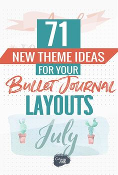 71 Bullet Journal Theme Ideas to Inspire Your Next Bullet Journal Layout - if you need ideas and inspiration for your next bullet journal spread or monthly layout, this list will get you there! Bullet Journal Cheat Sheet, Bullet Journal Monthly Spread, Bullet Journal Font, Bullet Journal Tracker, Bullet Journal Hacks, Bullet Journal Themes, Bullet Journal Inspiration, Bullet Journals, Journal Ideas