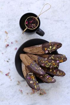 Recipe Box: Chocolate Dipped Cardamom Rosewater Biscotti + Radiate Self-Love | Vidya Living