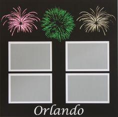 Want2scrap  Orlando - 12x12 Overlay  Scrapbook laser design page layout www.want2scrap.com