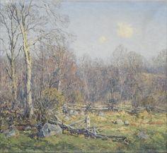 Late April, Lyme, Connecticut - Wilson Irvine - The Athenaeum