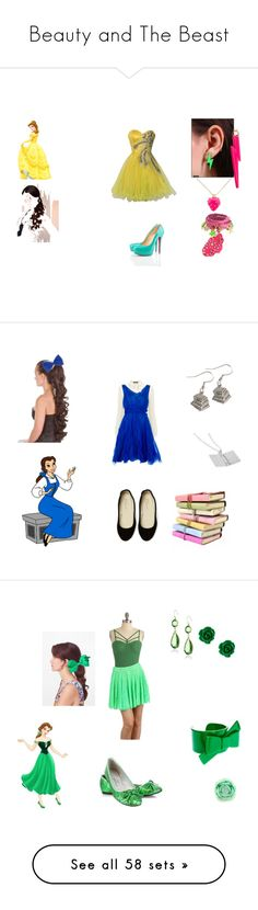 """Beauty and The Beast"" by ashley-hammond ❤ liked on Polyvore featuring art, Disney, Steve Madden, Brian Atwood, Lord & Taylor, Maria Westerlind, Disney Couture, Miadora, Christian Louboutin and Dolce&Gabbana"