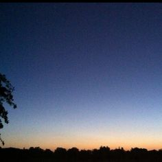 Dunrise and clear sky, taken with an iPhone