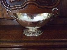English Ellis Barker Silver Plated Handled Pedestal Bowl