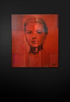 Mulitlayer Resign coated Fine Art Paper Patchwork Collage / 25 kg Size: 120 cm x 100 cm (x 10 cm) Art Series, James Dean, Grace Kelly, Fine Art Paper, Kiss, Collage, Contemporary, Interior, Artwork