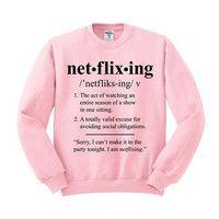 Netflixing Crewneck Sweatshirt