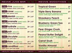 Juice & Smoothie Bar Menu