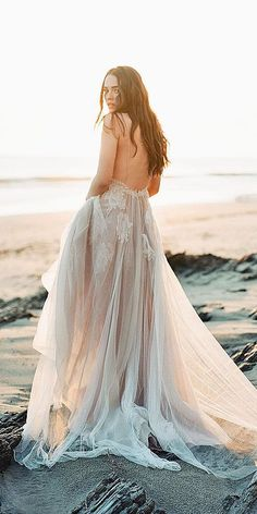 beach lace bridal gowns 4
