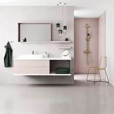 We love the simplistic style of this bathro… – Badezimmer Ideen Minimalist Bathroom Mirrors, Quirky Bathroom, Ideal Bathrooms, Minimal Bathroom, Boho Bathroom, Minimalist Bathroom Furniture, Bathroom Inspiration, Interior Inspiration, Home Finder