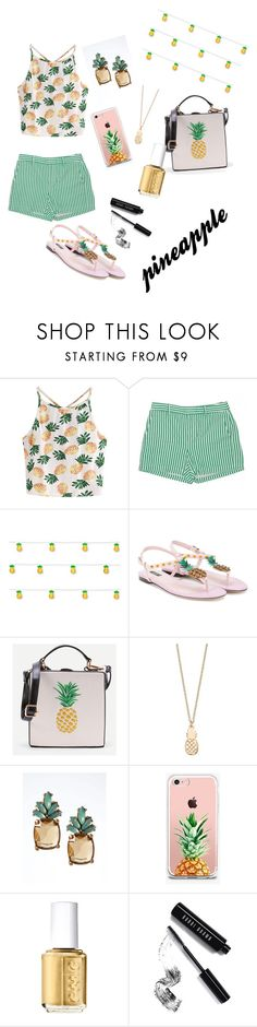 """""""pineapple😍🍍"""" by ferencz-silvy ❤ liked on Polyvore featuring WithChic, Studio Mercantile, Dolce&Gabbana, LC Lauren Conrad, Banana Republic, The Casery, Essie and Bobbi Brown Cosmetics"""