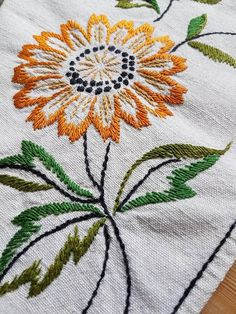 Beautiful floral embroidered tablecloth in good condition. The size is: 20 x 20, The material is linen, cottonthread Contact me if you have questions  Thank you for visit my vintage shop:)