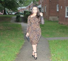 Leopard Pattern Is An Iconic Fall/Winter Print Trend! Perhaps You Can Wear A Midi Leopard Print Dress To An Evening Casual Event Just Like I Did.