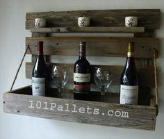 diy pallet wine rack - Google Search