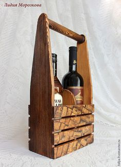 Wine Barrel Crafts, Wood Projects, Projects To Try, Wine Caddy, Wine Craft, Wood Creations, Bottle Holders, Aquaponics, Wood Boxes