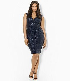 Lauren Ralph Lauren Woman Sequined CapSleeve Dress #Dillards