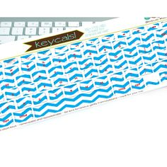 Dress up your Mac with Ocean Blue Chevron Keycals!