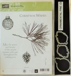 Ornamental Pine Clear mount stamp set and Matching Dies By Dave. I try to ship First Class International to keep costs down, Please, be aware that you may have additional customs fees when you pick your item up.