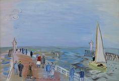 Raoul Dufy (French, 1877-1953), Les jetées, Deauville 1935. Oil on canvas, 50.1 x 73.3 cm.